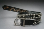 BAD Video Black Leather Buckled Belt Signed By Michael With Gold Marker (USA)