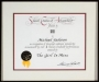 BMI Citation Of Achievement For Over 1 Million Broadcast Performances Of The Girl Is Mine In USA