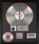Bad RIAA Platinum Award To Michael Jackson For 1 Million Sales In USA