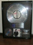Bad RIAA Platinum Award To Gene Bartholomew For  7 Million Copies Of LP/CD/Cassette Sold In USA