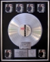 Bad RIAA Platinum Award To Q. Jones For 6 Million Copies Of LP/Cassette Sold In USA