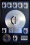 Bad RIAA Platinum Award To Epic For  8 Million Copies Of LP/CD/Cassette Sold In USA
