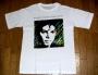 Bad Tour '87 Official White 'Plaid Jacket Artist Design' T-shirt  (Japan)