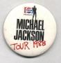 Bad Tour '88 Pepsi Promo Round Button (Europe)