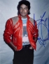 Beat It Jacket Color Photo Signed By Michael (1983)