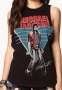 Beat It Official *Forever 21* Black Women Muscle T-Shirt (USA)