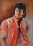 Beat It Video Oil Painting By Samantha Wendell Signed By Michael (Date Unknown)