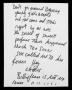 Billie Jean Partial Handwritten Lyrics (1982)