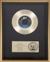 Billie Jean RIAA Platinum Award For The Sale Of 1,000,000 Copies Of The Single In USA