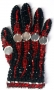 Black And Red Crystal Glove (1980's)