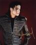 Black Leather Jacket Promo Photo Signed By Michael (1992)