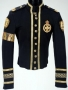 Black Military Style Jacket With Gold Armband (1990's)