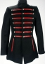 Black Military Style Jacket With Red Striping (1990's)