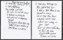 Black Or White Handwritten Lyrics (ca. 1990 USA)