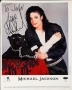 """Black Or White Promotional """"Panther"""" Photo Signed By Michael *To John Cole* (1991)"""