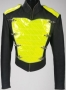 Black Vinyl Jacket With Yellow Chest Panel (1990's)