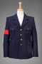 Blue Wool Belgian Military Jacket Signed By Michael