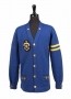 Blue Wool Cardigan With Yellow Stripes Worn By Michael Jackson (Date Unknown)