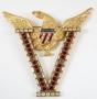 Brooch With Gold Metal Eagle As Seen In Moonwalker (1987)