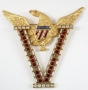 Brooch With Gold Metal Eagle As Seen In Moonwalker (1987)