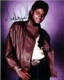 Brown Leather Jacket Colour Photoshoot Photo Signed By Michael (1983)