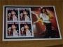 "Burkina Faso ""Les Annees Showbizz""  Michael jackson Souvenir stamp sheet"