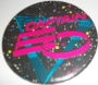 Captain EO Official Round Button (Red & Blue Logo) (USA)