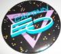 Captain EO Official Round Button (Blue & Violet Logo) (USA)