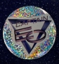 Captain EO 2010 Tribute Official Round Glitter Button (France)
