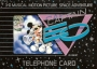 Captain EO Official Telephone Card Tokyo Disneyland 1 (Japan)