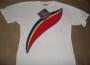 """Captain EO (2010 Disneyland Tribute) """"Rainbow Logo"""" White T-Shirt (USA)"""