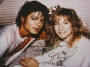 Captain Eo Backstage Photo Signed By Michael And Barbara Streisand (1985)
