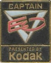 Captain EO Kodak Square Black Lapel Pin (USA)