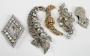 Set Of Rhinestone Brooches And Shoe Buckles