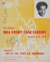 """Cover Page Of Bill Cosby's First Annual """"Cage Classic"""" Program Signed By Michael (1972)"""