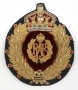 """Custom Patch """"Gold Wreath With Crown"""""""