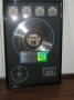 Dangerous RIAA Platinum Award For 4 Million Copies Of The LP/CD/Cassette In USA (To Epic)