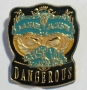 Dangerous World Tour '92 Promo Eye Mask Blue/Gold Pin (Germany)