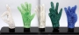 Display Of Five Crystal Gloves (1997)