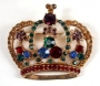 Gold Metal Brooch In Form Of A Crown