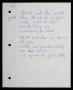 Granite (Unreleased) Handwritten Lyrics (Undated)