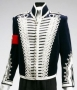 HIStory Era Military Style Blue Velvet Jacket With Silver Rope Stripes (1990's)