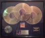 HIStory RIAA Gold Record Award For The Sale Of 1,500,000 Copies Of The LP/Cassette/CD In USA