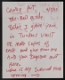 Handwritten Note To Former Assistant Candy *Beta's In Vault & Survival Food* 6/7/85 (USA)