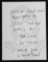 Handwritten Note To Assistant *Recording Studio Delay* (1985)