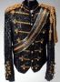 Hollywood Walk Of Fame Black Crystal Jacket With Gold Beads (1984)