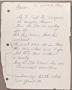 Innocent Man Partial Handwritten Lyrics #2 (1993)