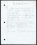 Innocent Man Partial Handwritten Lyrics #3 (1993)