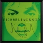 Invincible Album Green Promo Poster Signed By Michael (2001)