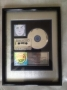 Invincible RIAA Platinum Award To HRC For The Sale Of 1 Million Copies Of LP In USA
